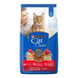 Alimento Gatos CAT CHOW Sin Col Adt Carne x 3 kg.