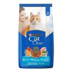 Alimento Gatos CAT CHOW Sin Col Adt Pescado x 1 kg.