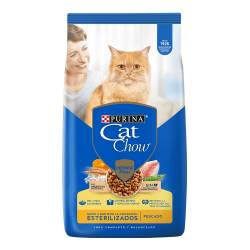 Alimento Gatos CAT CHOW Sin Col Esterilizados x 3 kg.